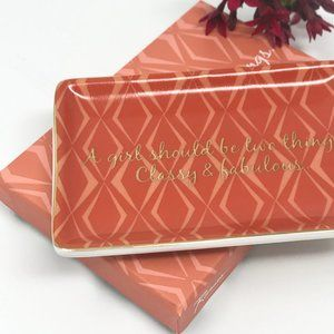 Chic Orange Ceramic Boxed Ring Dish